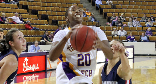 Complete effort lifts Golden Eagles to 65-56 win over Samford