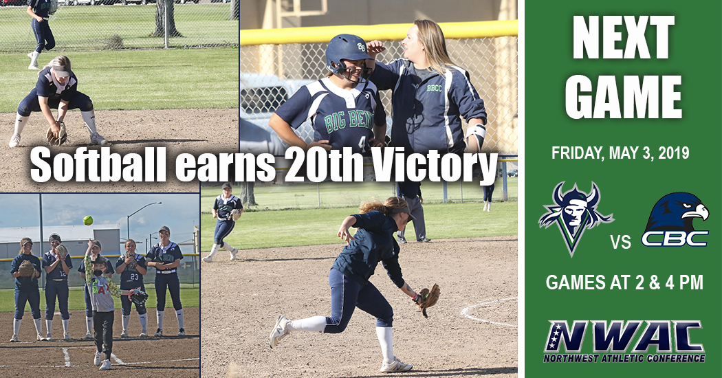 Softball picks up its 20th win of the season splitting doubleheader with Walla Walla.