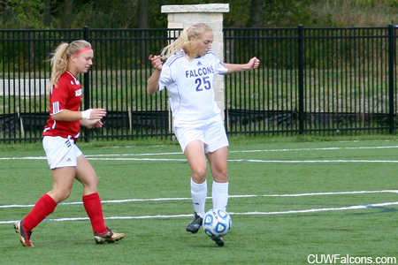Brehmer records hat trick, Women's Soccer downs St. Norbert