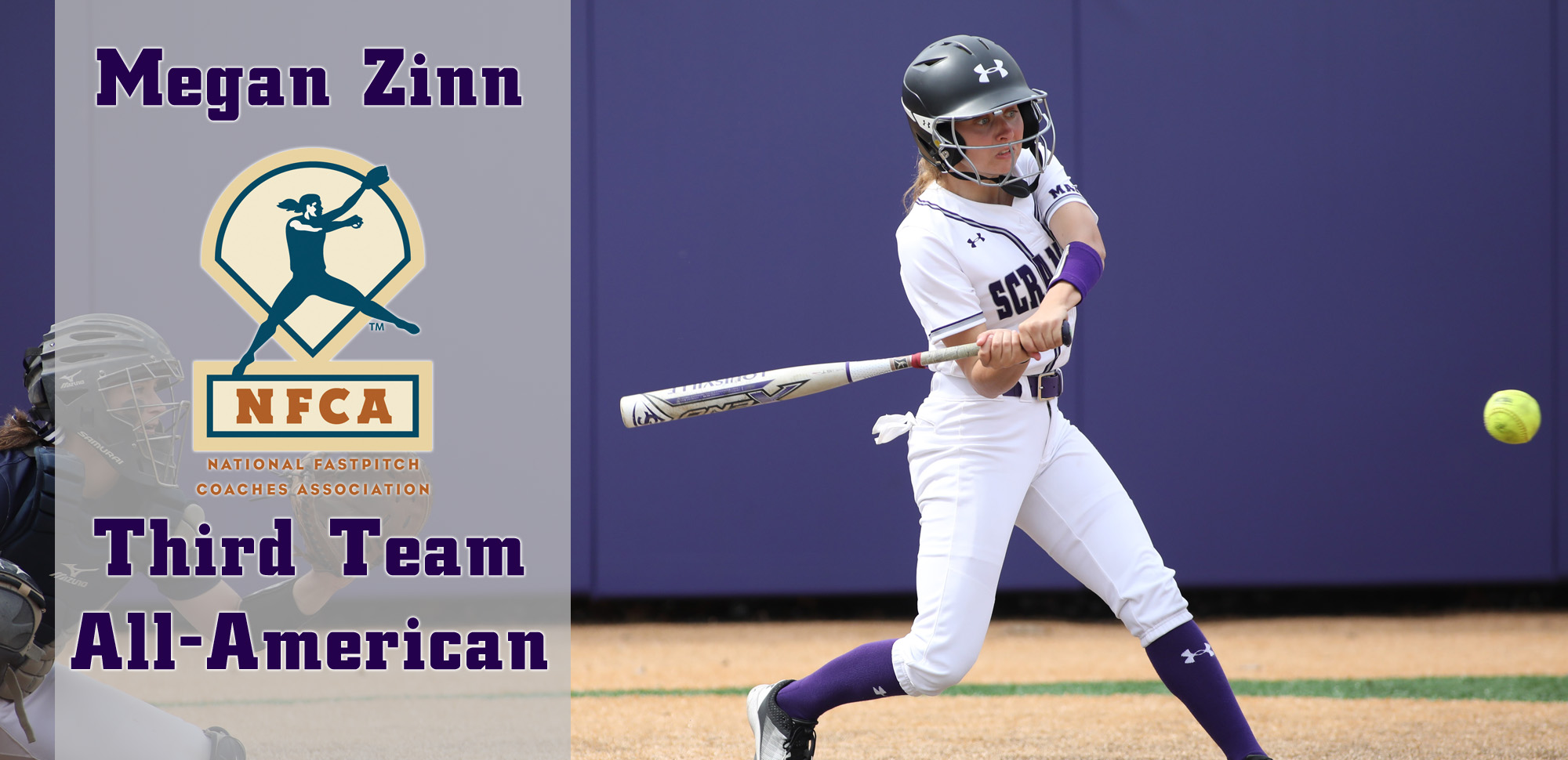 Junior Megan Zinn became just the second player in Scranton history to earn NFCA All-American honors. © Photo by Timothy R. Dougherty / doubleeaglephotography.com
