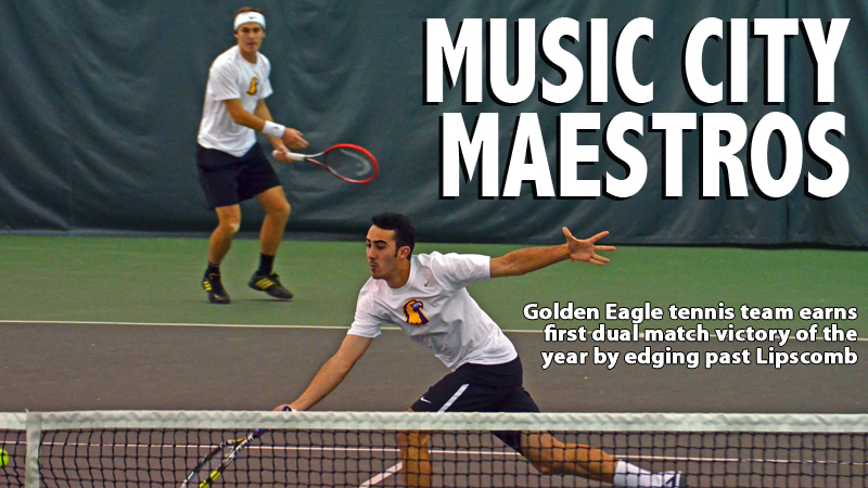 Golden Eagles slip past Lipscomb for first dual match victory