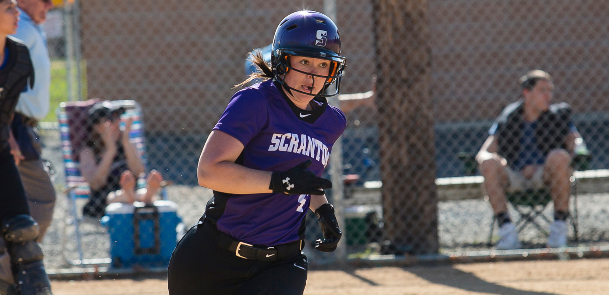 Senior Shannon Stricker went a combined 6-for-7 with five RBI, as the University of Scranton softball team bested Penn State Hazleton in a pair of games on Thursday at the Jessup Youth Sports Complex.