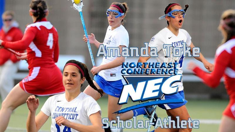 Toke Named Women's Lax Scholar-Athlete