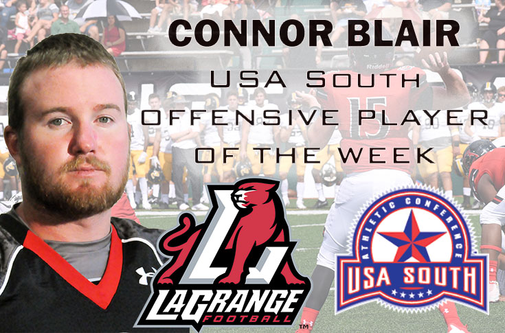 2017-18 in Review: Senior quarterback Connor Blair named USA South Offensive Player of the Week