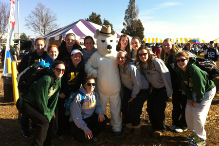 McDaniel athletes take part in Polar Bear Plunge