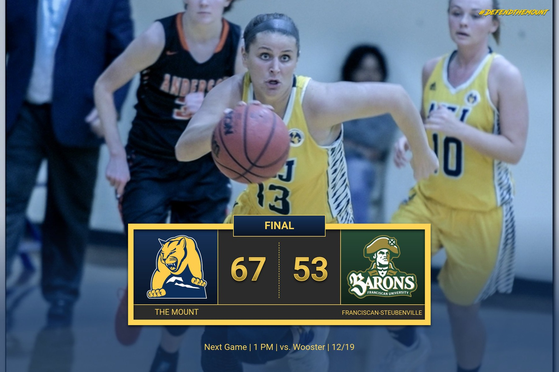 Huge second quarter leads Lions to 67-53 victory over Franciscan