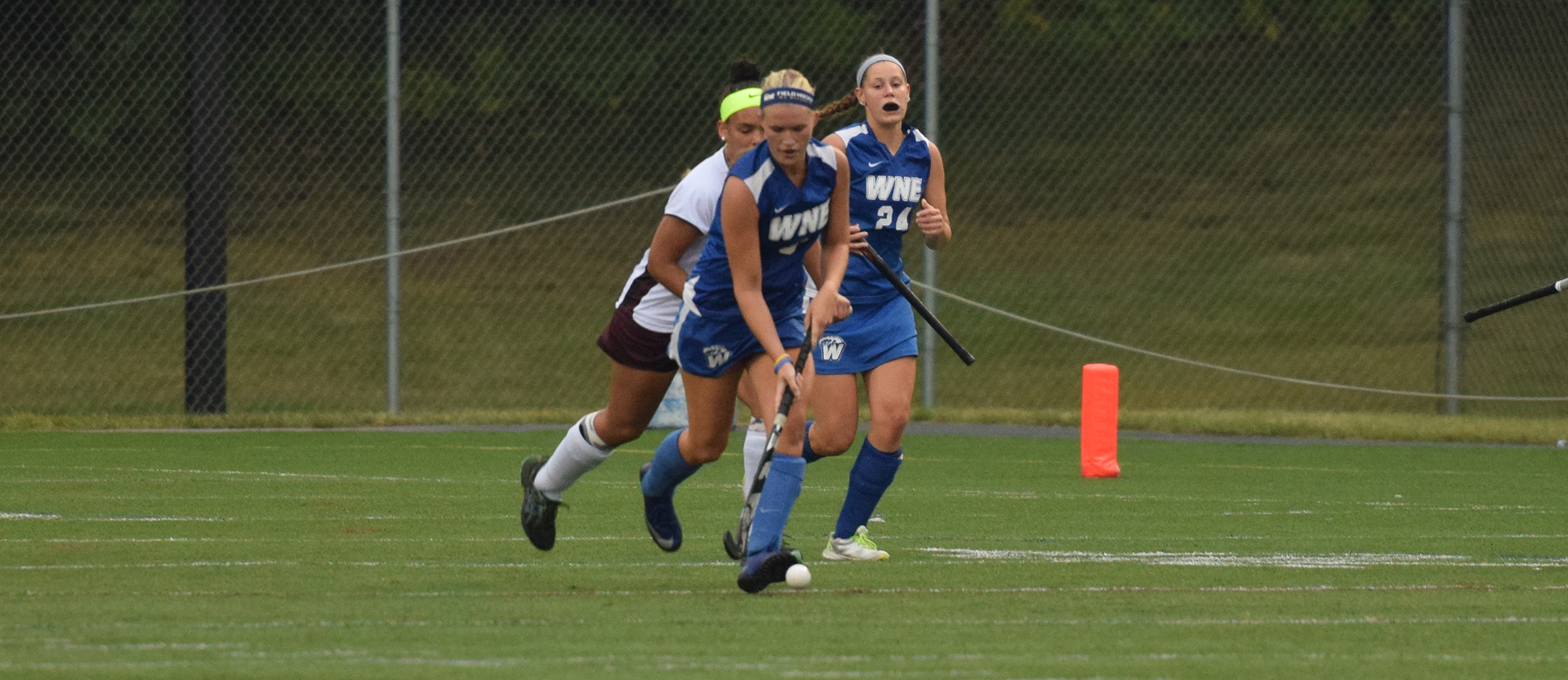 Senior Michelle Carlson scored Western New England's lone goal late in the first half of Wednesday's 2-1 loss to Springfield.