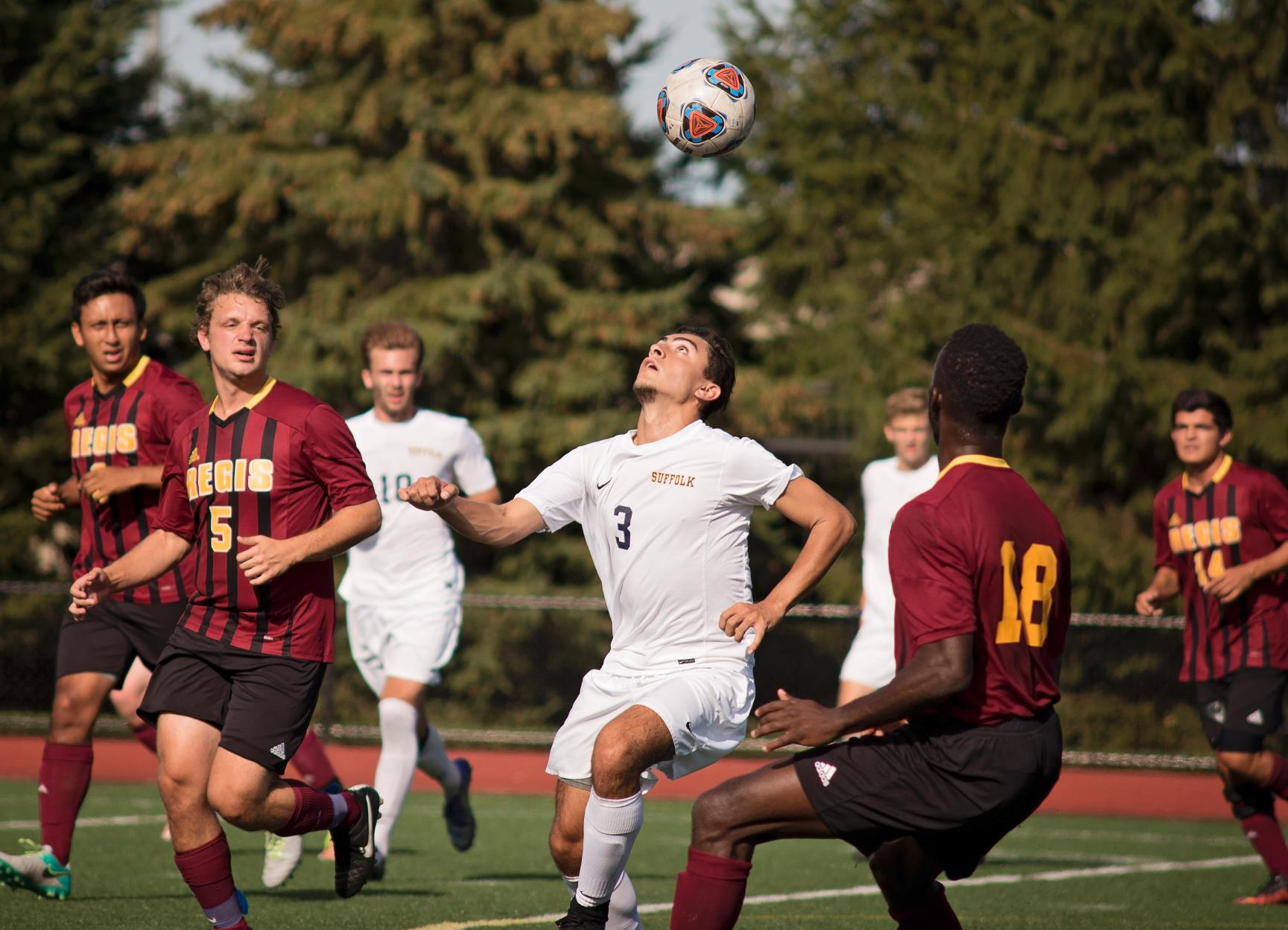 Men's Soccer's Heads to GNAC Leader Saint Joseph's Wednesday
