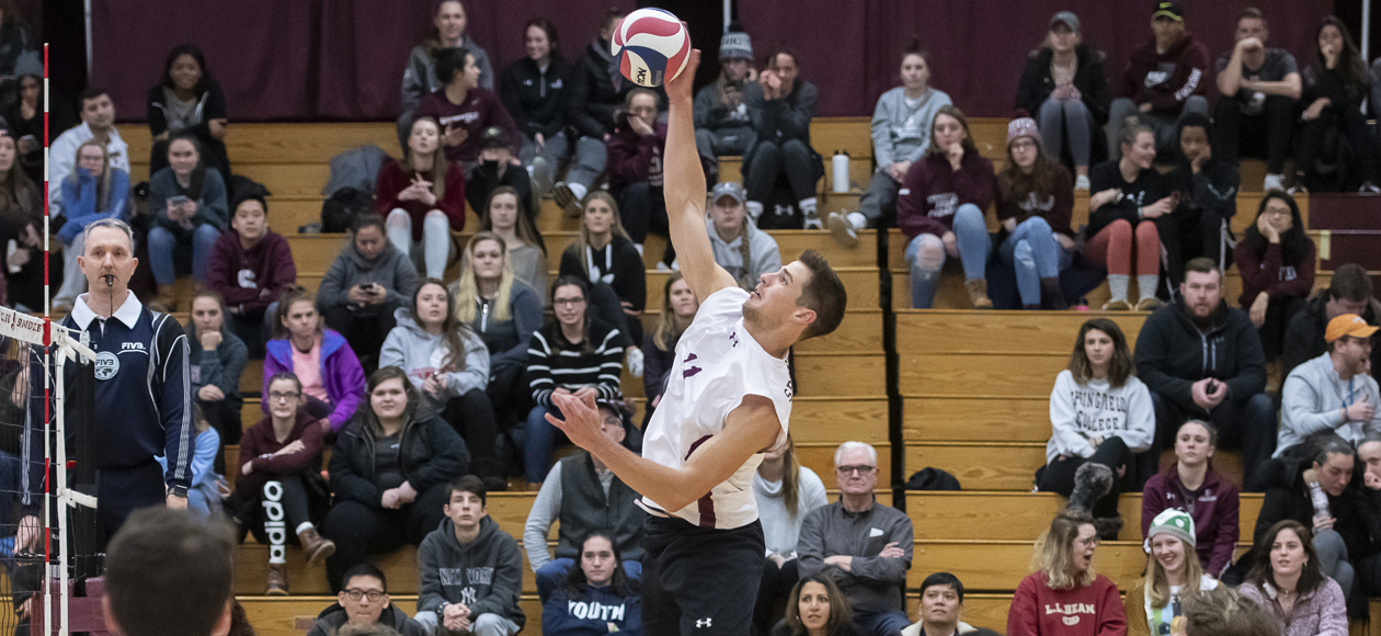 No. 1 Men's Volleyball Bests Sage and St. Joseph's