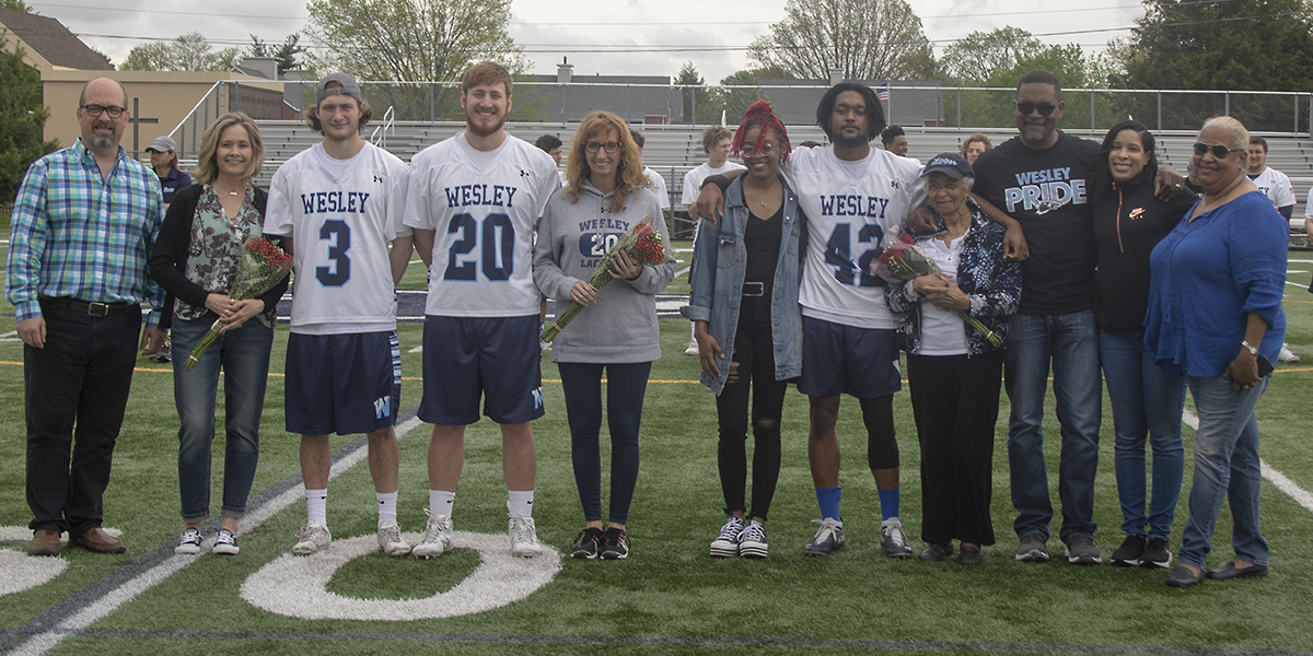 Men's Lacrosse rolls over La Roche on Senior Day