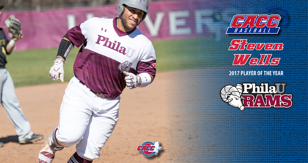 PhilaU's Steven Wells Named 2017 CACC Baseball Player of the Year; All-CACC Teams Announced