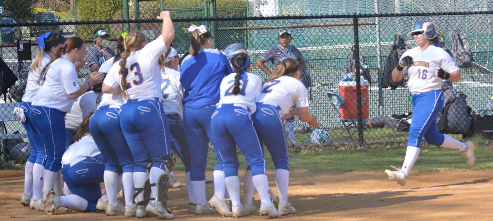 Clark Homers In Softball's Doubleheader Setback Against Wilmington