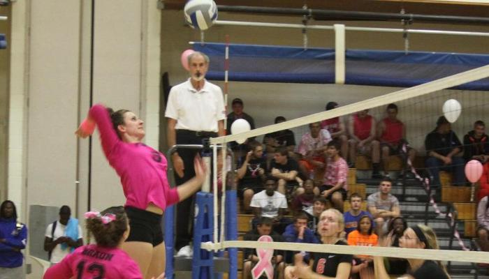 Lady Pioneers Win Dig Pink Match
