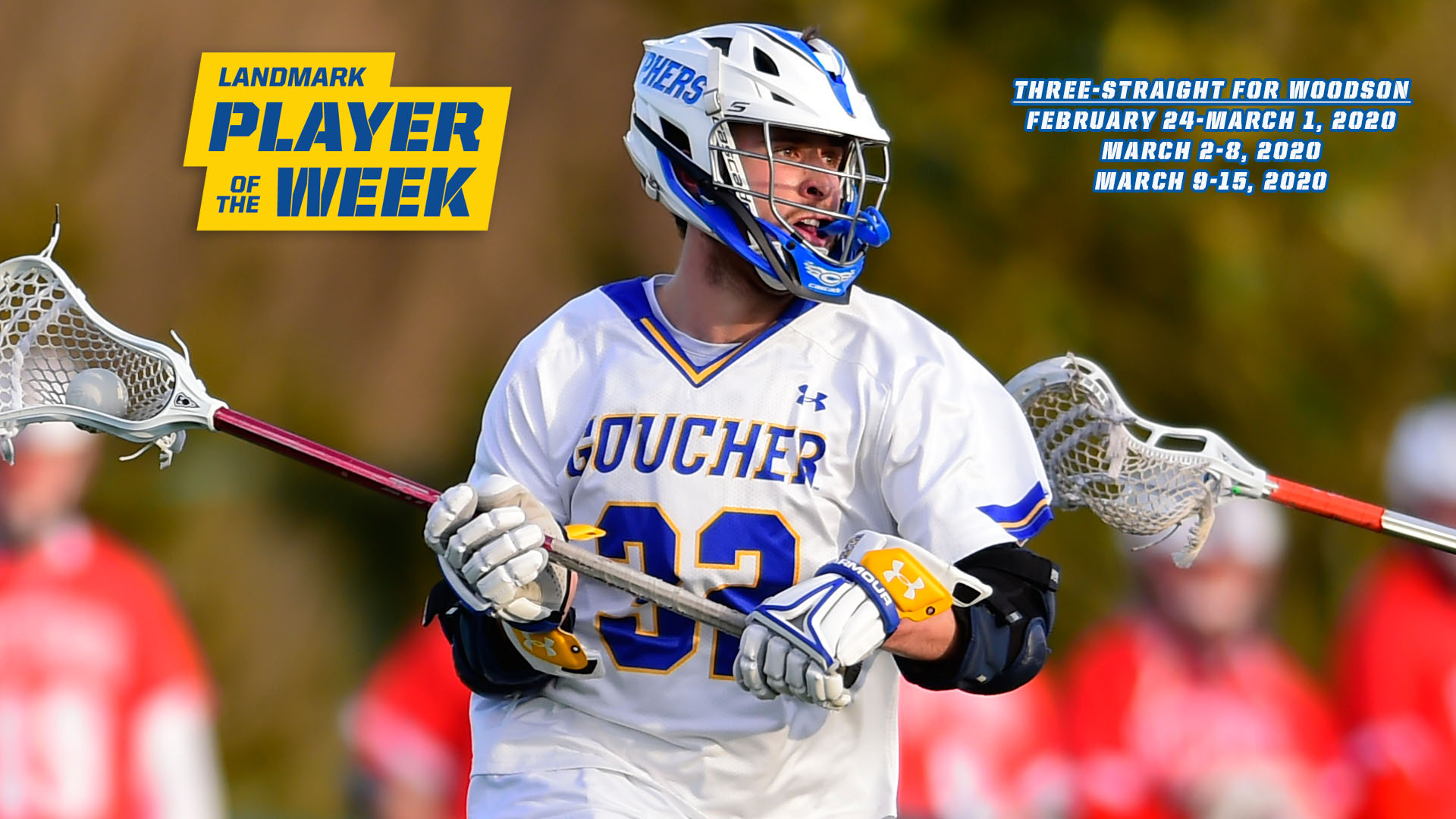 Woodson Is Once, Twice, Three Times A Landmark Conference Men's Lacrosse Offensive Athlete Of The Week