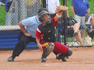 Senior catcher Rachel Mueller posted three hits in as many at bats against Ashland in the nightcap.