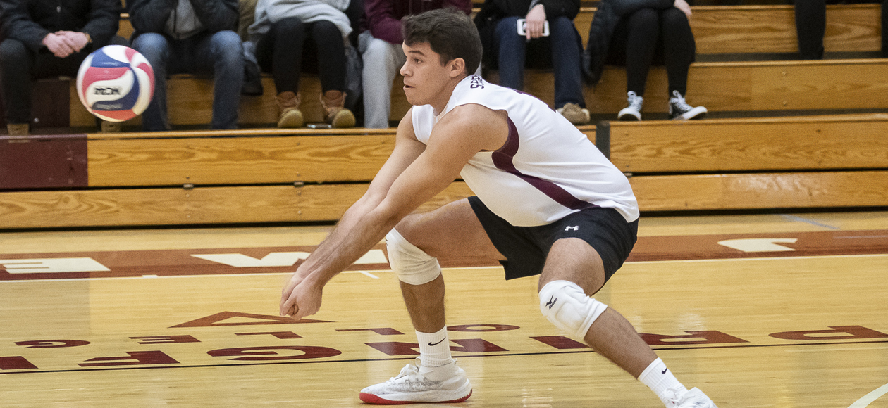 No. 2 Men's Volleyball Grinds Out Four-Set Win At MIT