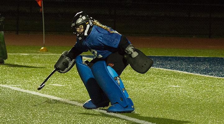 Kylie Edwards came up with six saves against the Cardinals.