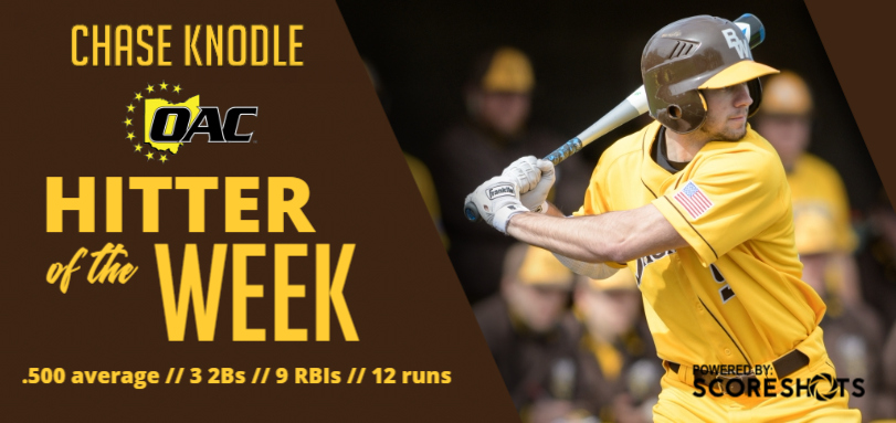 Knodle Garners First OAC Hitter of the Week Honor