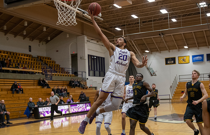 Men's Basketball Loses NE10 Decision at Regionally-Ranked New Haven
