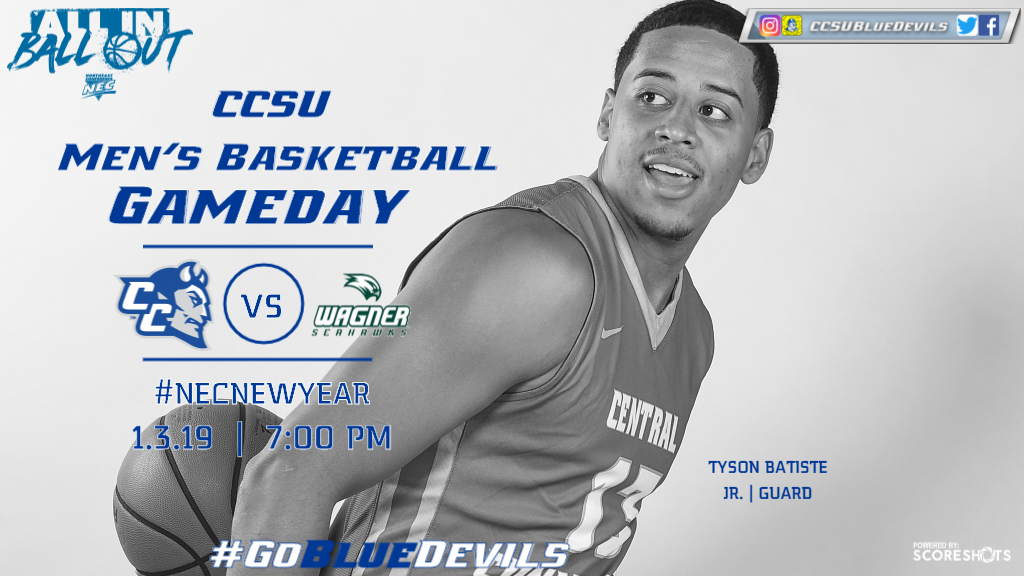 Men's Basketball Hosts Wagner Thursday for #NECNEWYEAR