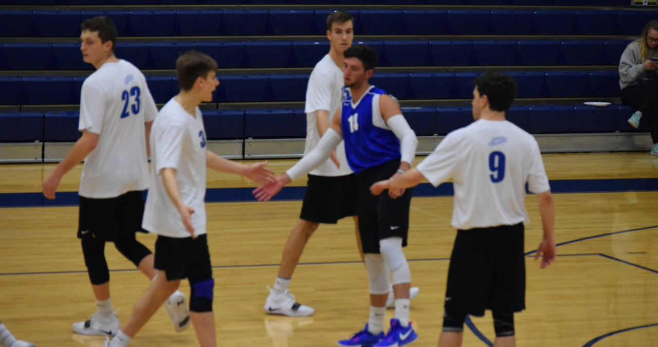 Men's Volleyball Gets First Set Win of the Season Going 0-3 against Adrian and 1-4 against Hiram