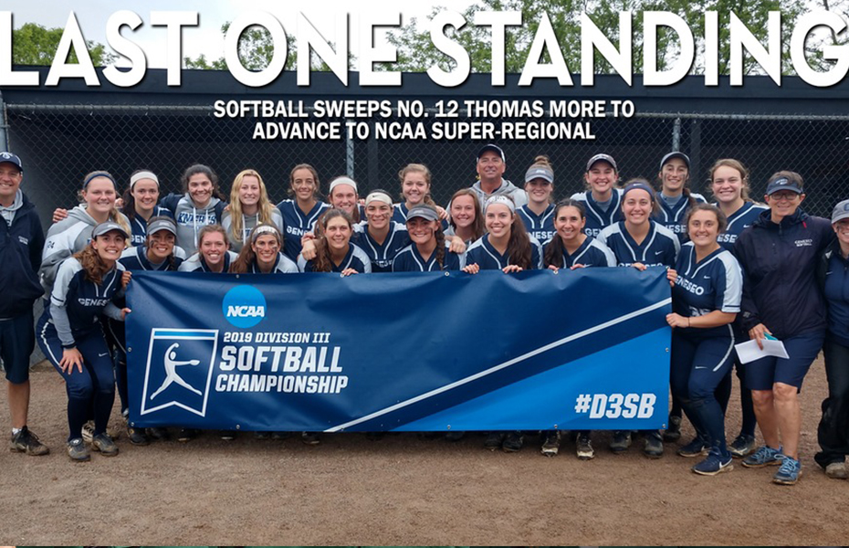 Geneseo Softball sweeps No. 12 Thomas More to advance to NCAA Super-Regional