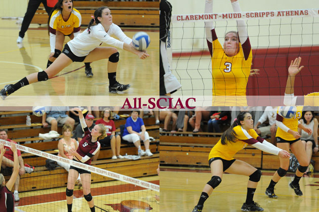 Four Athenas named to All-SCIAC Volleyball Team; Kerkhof Freshman of the Year