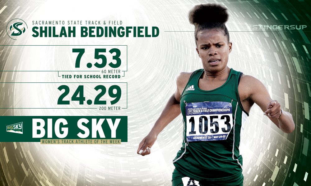 BEDINGFIELD NAMED BIG SKY WOMEN'S TRACK ATHLETE OF THE WEEK