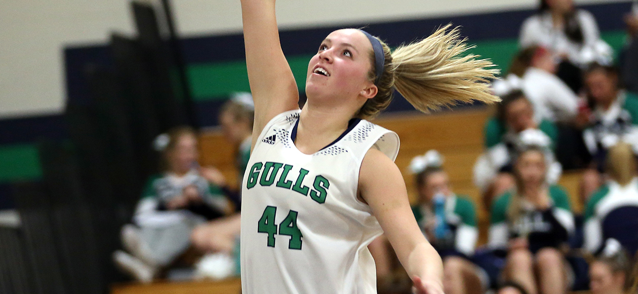 Sarah Hood's First Career Double-Double Propels Gulls Past Gordon, 60-44