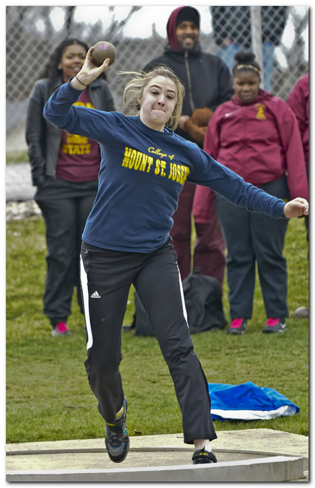 Mount women's track & field team competes at the University of Indianapolis