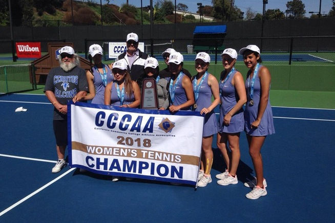 Cerritos women's tennis team won their second state title in three season