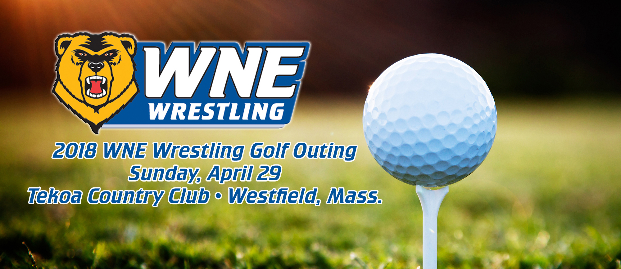 WNE Wrestling to Host Golf Outing on Sunday, April 29