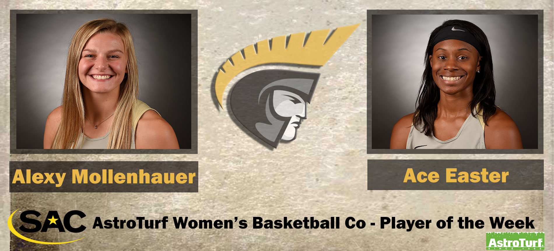 Mollenhauer and Easter Earn South Atlantic Conference AstroTurf Women's Basketball Co-Player of the Week