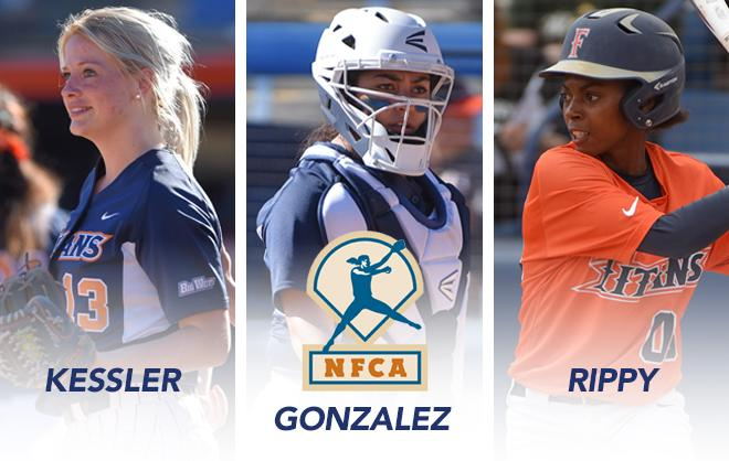 Three Titans Earn NFCA All-Region Accolades