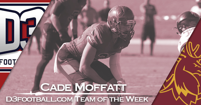 Moffatt of CMS Named to D3football.com Team of the Week
