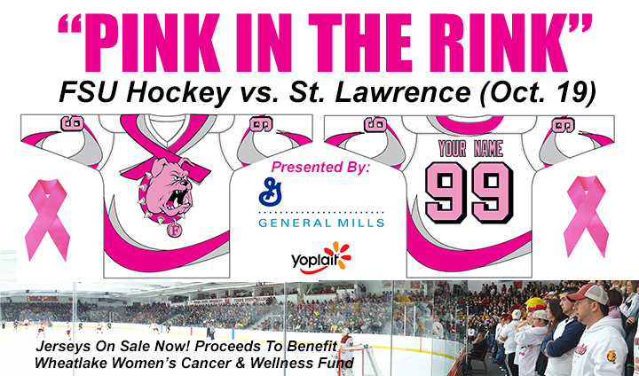 "First-Ever Ferris State Hockey ""Pink In The Rink"" Game Set For October 19; Purchase A Jersey Now!"