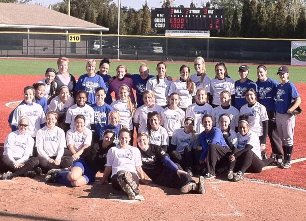 Softball Tops Alumni Team, 6-1