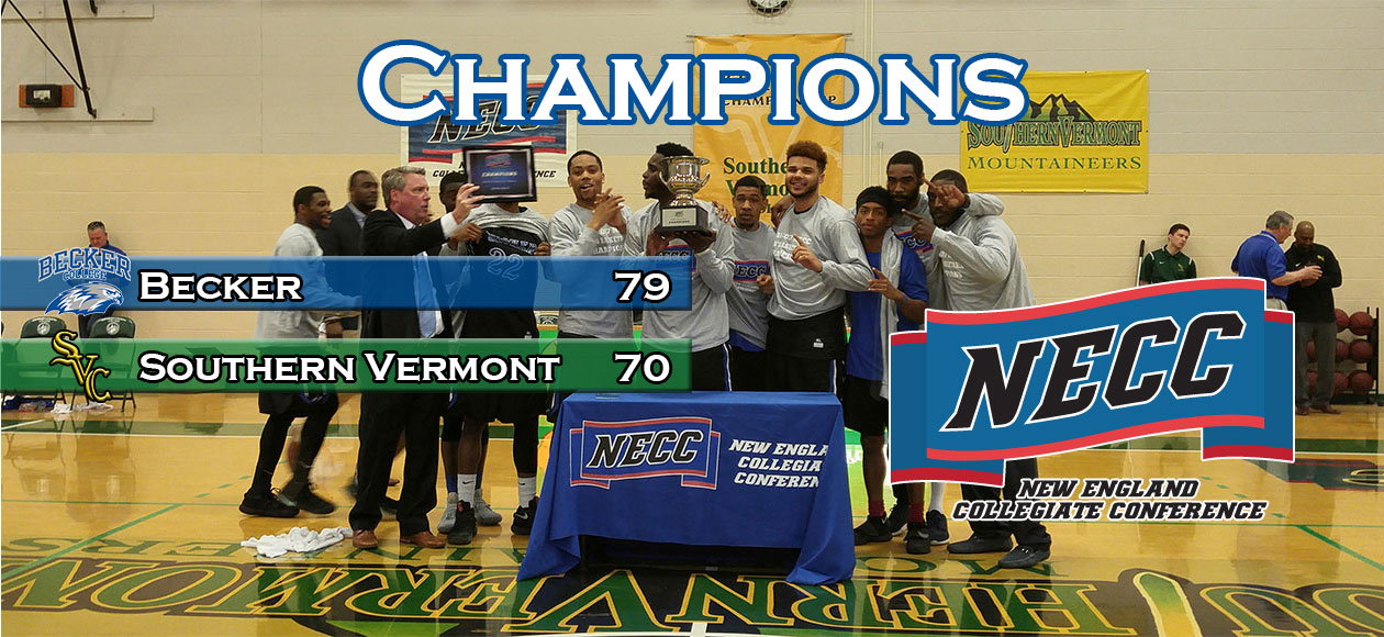 Men's Basketball claims NECC Championship with win at Southern Vermont