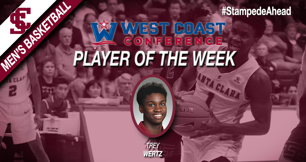 Men's Basketball Freshman Guard Earns West Coast Conference Player of the Week