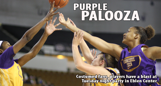 Fans have rollicking good time at Purple Palooza (and players, too)