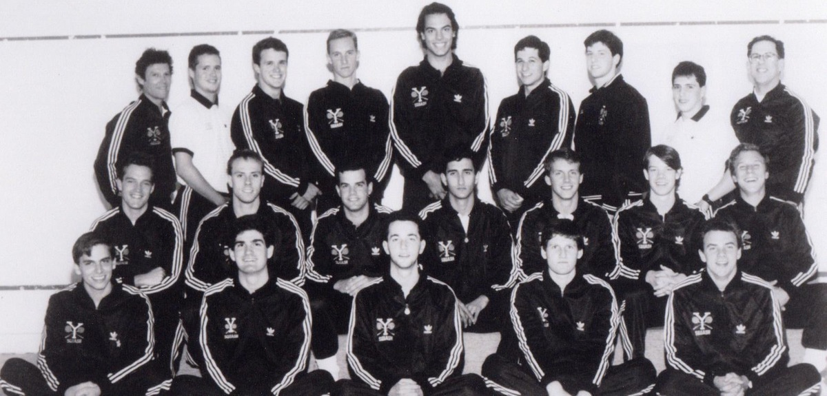 Captain Cyrus Mehta (in the middle of the middle row) in the 1989-90 Team Photo