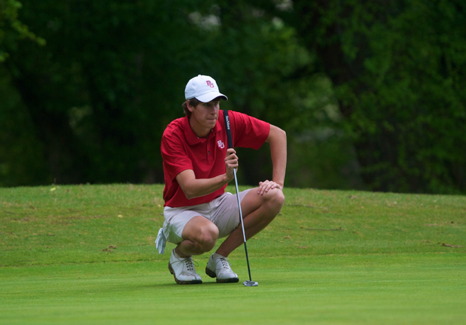 Men's Golf Tied for Third after Day One of the Samford Intercollegiate