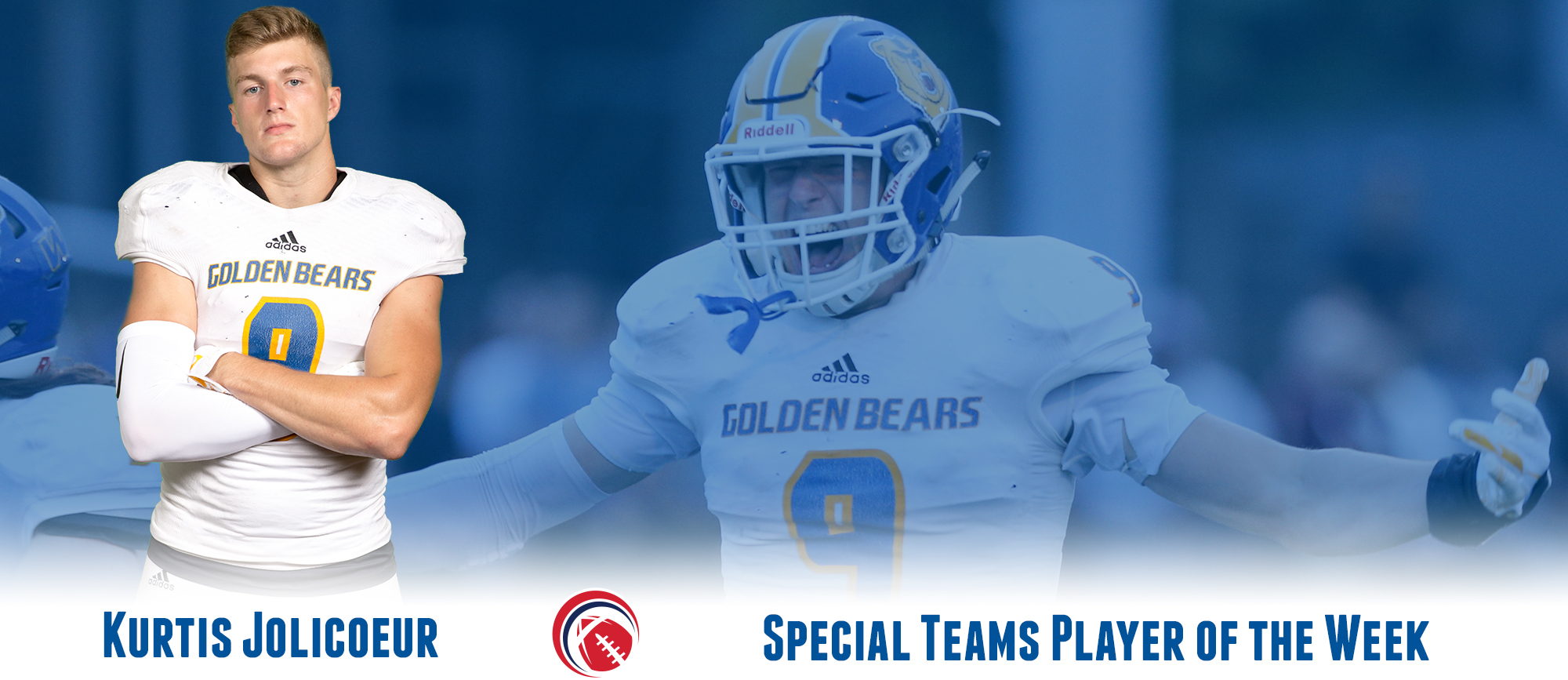 Kurtis Jolicoeur Named CCC Football Special Teams Player of the Week