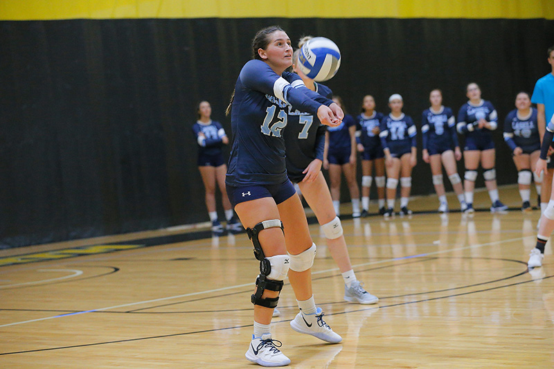 WVB: Lasers knock off Emmanuel in GNAC match-up; DiLeonardo notches 22 digs