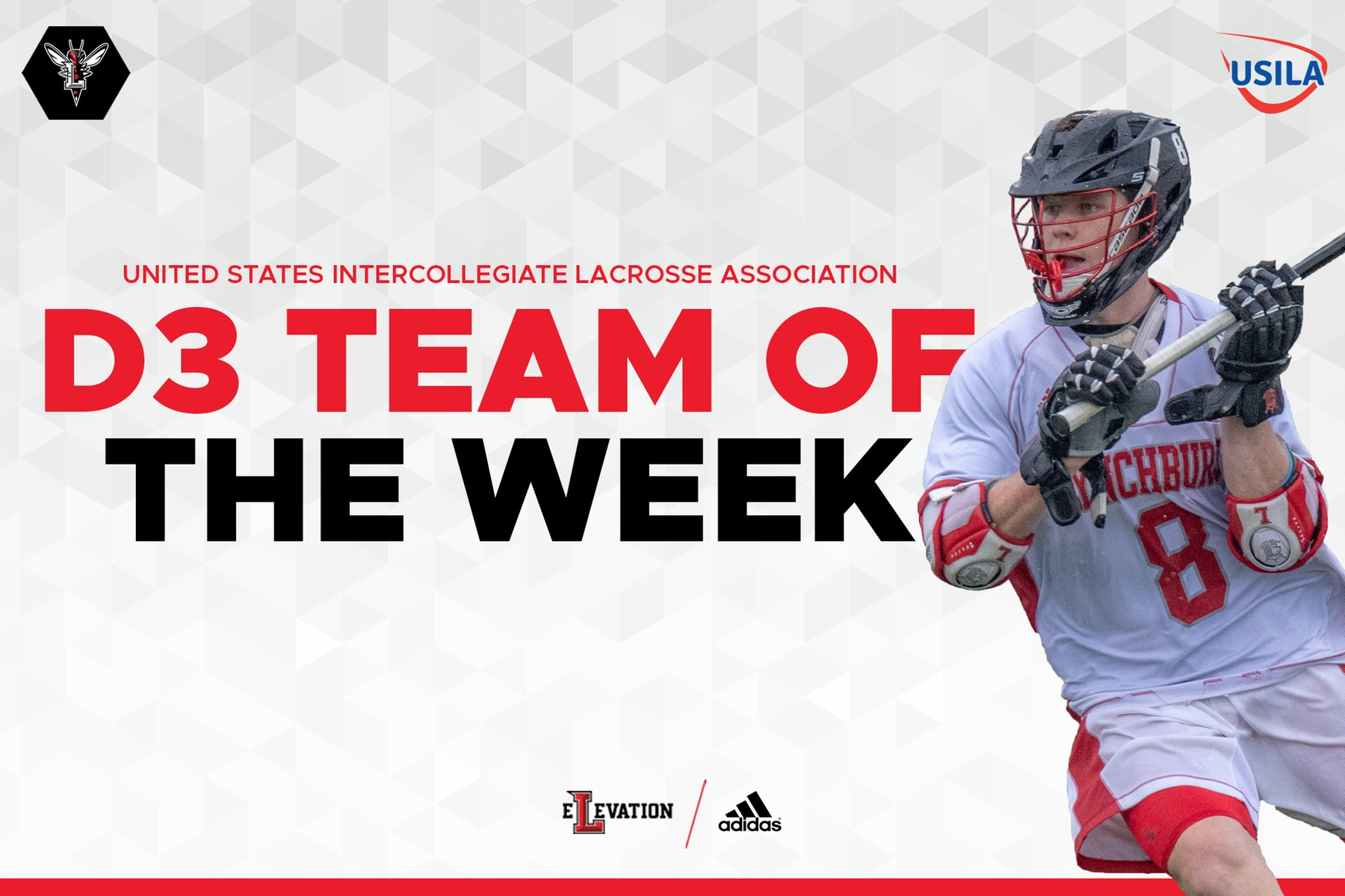Colin Dean D3 team of the week graphic on white background
