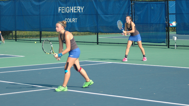 Women's Tennis Defeats Marietta, 7-2, on the Road
