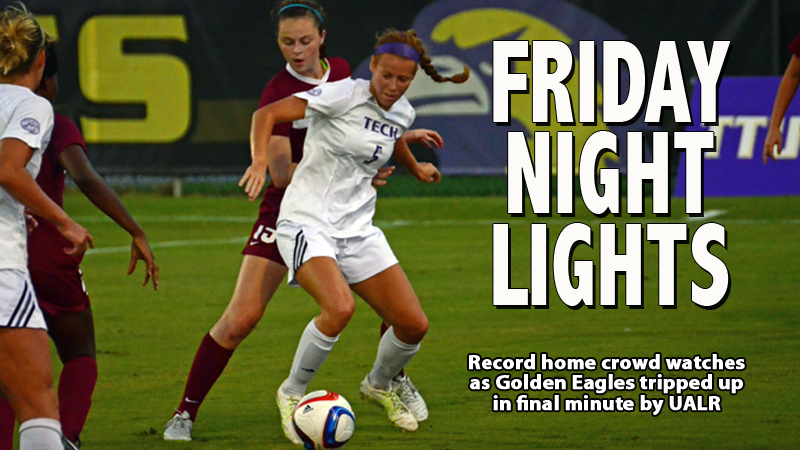 Tech tripped up 2-1 in first ever home night match among record crowd