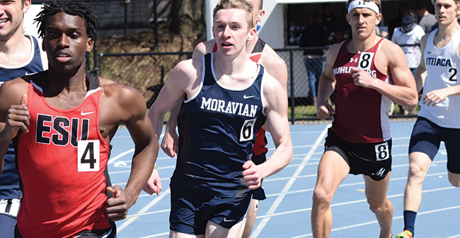 Jaindl & Condo Post Runner-Up Finishes as Moravian is 5th after 1st Day of ECAC Championships