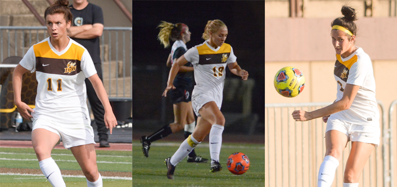 All-OAC selections Rachel Bender, Anna Poptic and Lauren Haynam