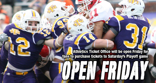 Ticket office to be open Friday; Parking and tailgate information announced